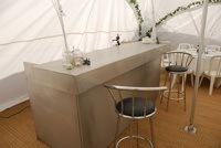 Marquee bar with stools
