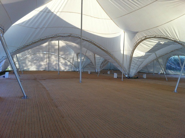 Capri Marquees showing matting for floors