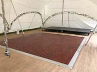Parquet dance floor for use in marquees