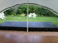 Stage for use in marquee
