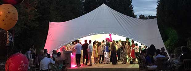 Our range of Capri marquees for weddings, parties and functions