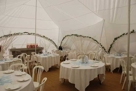 Marquee wedding near Bicester in Oxfordshire