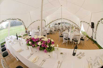 Capri marquee for wedding in Whitchurch, Buckinghamshire