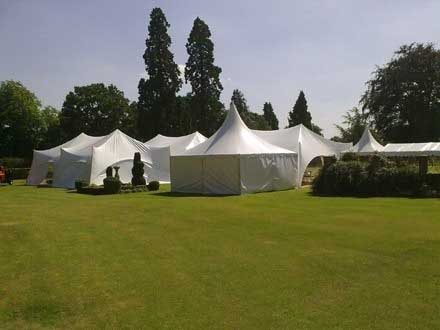 Capri Marquee wedding in Worcestershire showing service tent
