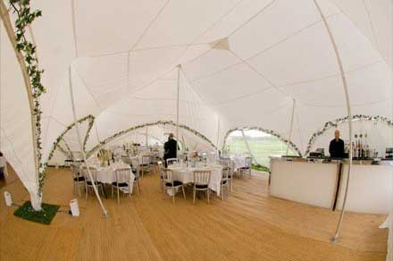Marquee wedding near Whitchurch, Buckinghamshire with bar