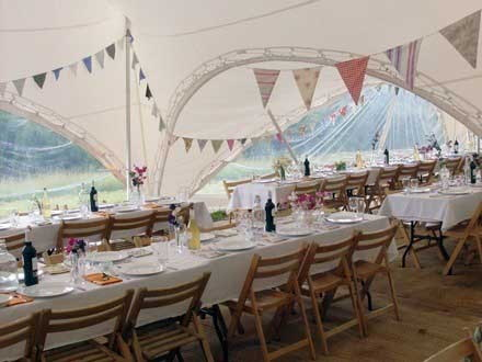 Marquee wedding in Gloucestershire